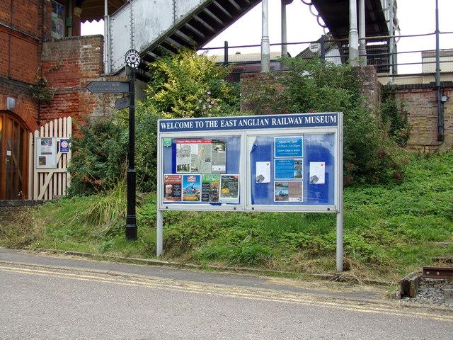 East Anglian Railway Museum sign