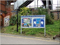 TL8928 : East Anglian Railway Museum sign by Adrian Cable