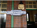 TL8928 : Chappel & Wakes Colne Railway Station sign by Adrian Cable