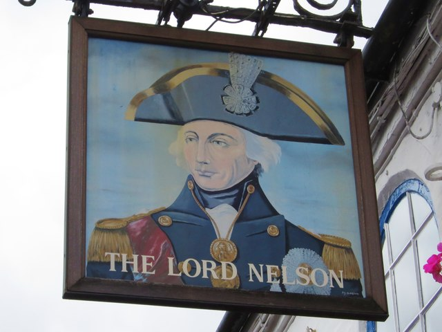 The Lord Nelson sign