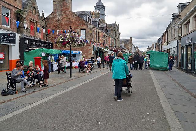 The High Street in Dingwall