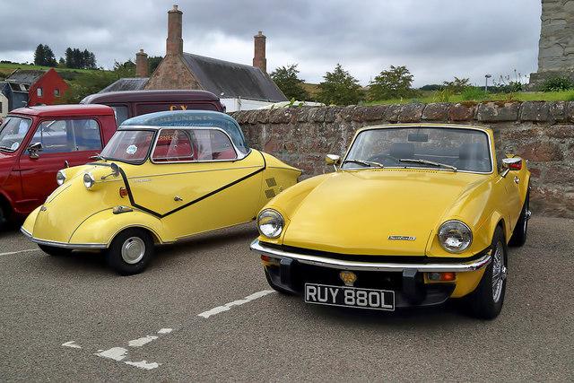 Vintage cars at Dingwall