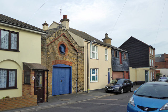 Building with blue doors, George Street, Harwich