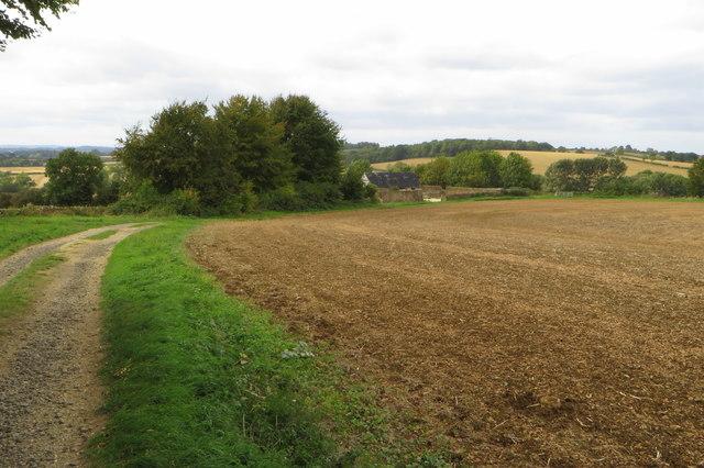 Bridleway towards Astrop Hill Farm