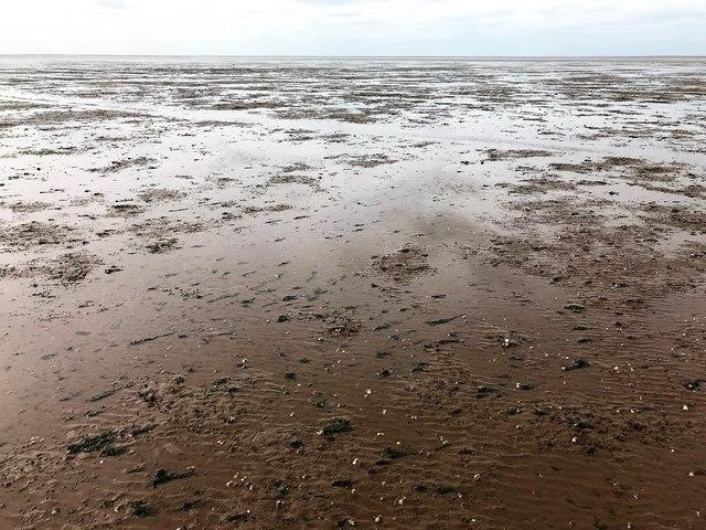 Low tide in The Wash estuary near Heacham