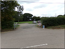 TL8928 : Entrance to the Railway Station Car Park by Adrian Cable