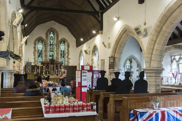Interior, St Margaret's church, Bucknall