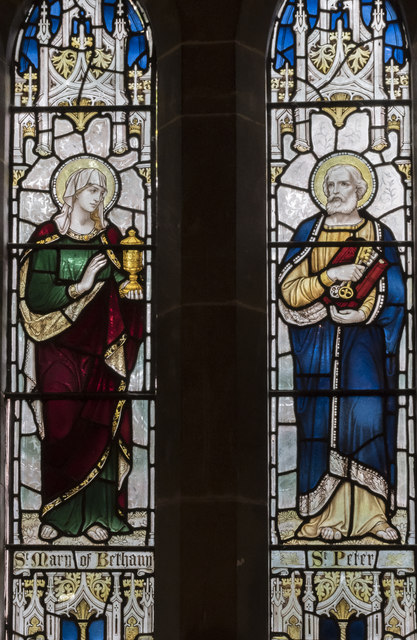 Stained glass window, St Margaret's church, Bucknall