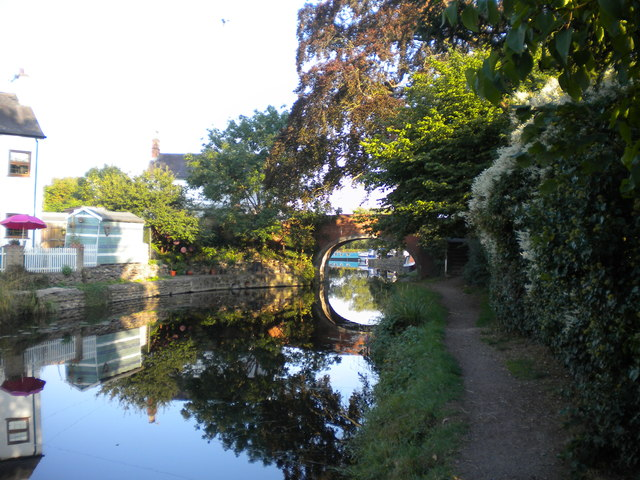 Grand Union Canal west of Mill Lane Bridge, Barrow upon Soar