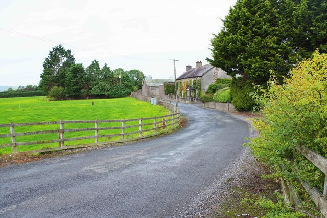 Minor road (L3145) passing a farm, near Dungarvan, Co. Waterford