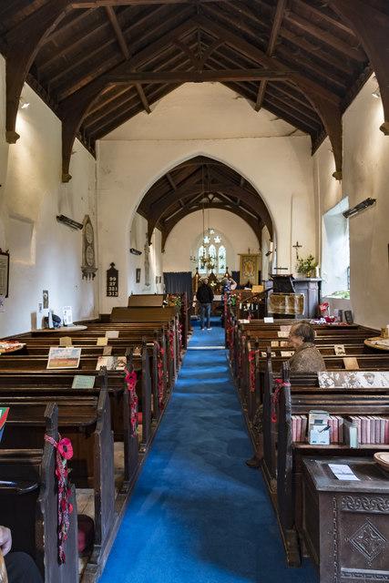 Interior, St Margaret's church, Roughton