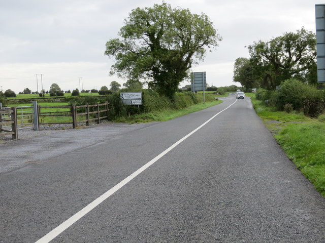 Road (R377) from Castlerea about to turn left to Castleplunket and Tulsk
