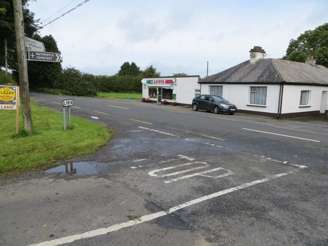 Local Road (L1618) joining the R377 at Lavins Food Store, Lissalway