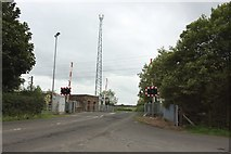 NU2217 : Littlemill Level crossing by Graham Robson