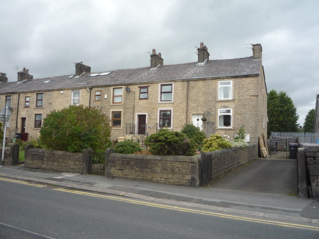 Terraced housing on Darwen Road (B6472)