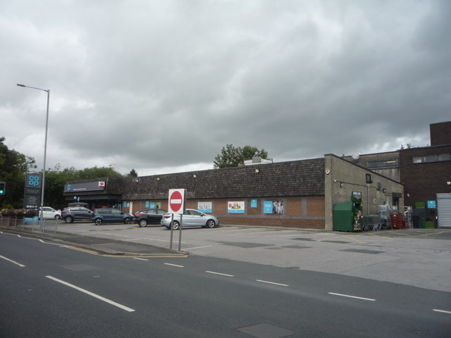 Co-operative food store and Post Office on Darwen Road (B6472)