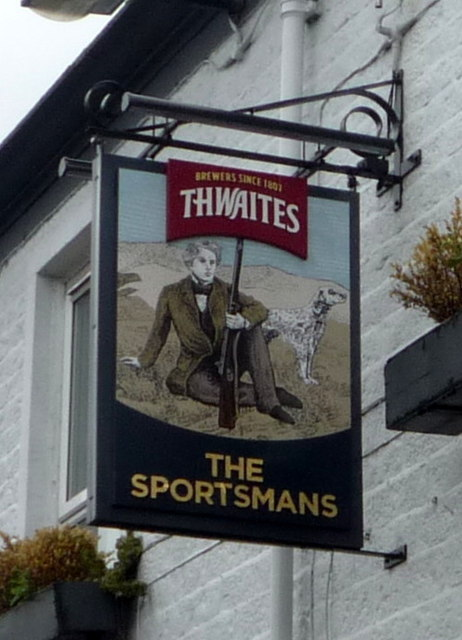 Sign for the Sportsmans public house