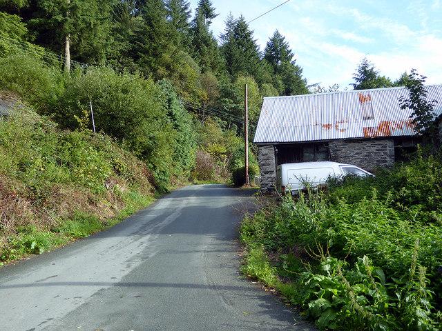 Minor road leaving Esgairgeilliog by John Lucas