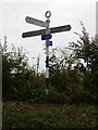 TM4095 : Signpost on Beccles Road by Adrian Cable