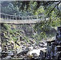 NY9027 : Wynch Bridge, Newbiggin (1970) by Stanley Howe
