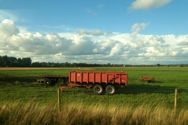 Trailer in a field near Hoscar