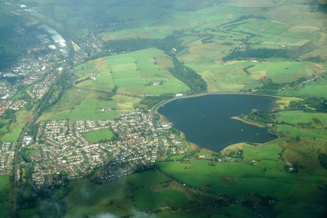 Hollingworth Lake, Littleborough, from the air