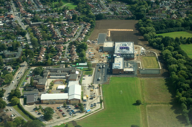 Cheadle College from the air