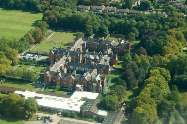 Priory Hospital Cheadle Royal from the air