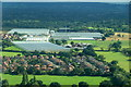 SJ8485 : Outwood Farm and Yew Tree Farm, Heald Green, from the air by Mike Pennington