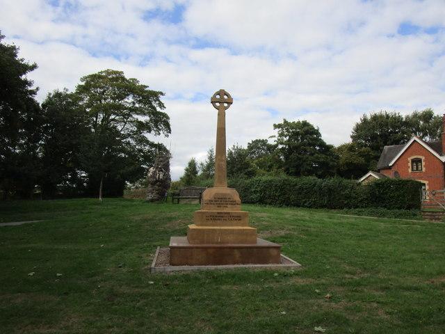 War Memorial, Bromesberrow