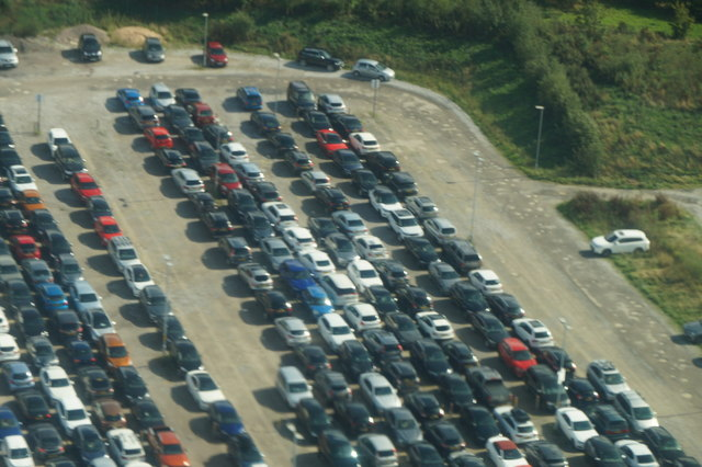 Long-term car parking, Manchester Airport, from the air