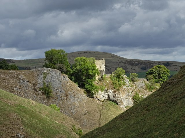 In Cave Dale - looking to Peveril Castle