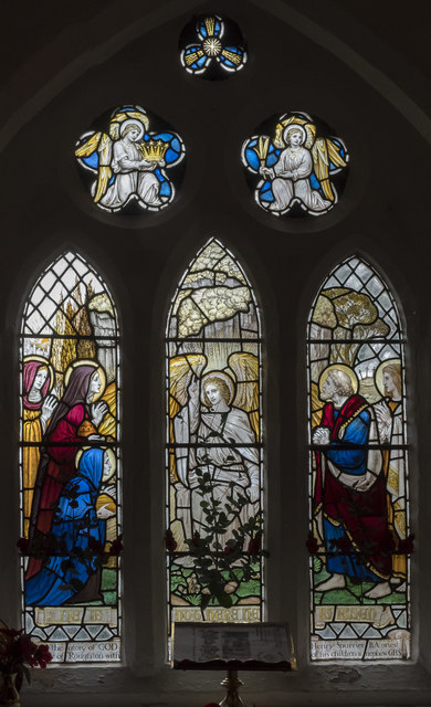Stained glass window, St Margaret's church, Roughton