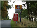 TL8828 : Wakes Colne Village Name sign by Adrian Cable