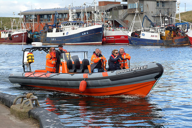 The Brightwater returns to Eyemouth Harbour