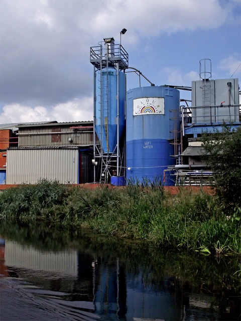 Industrial structures north of Aylestone Park in Leicester