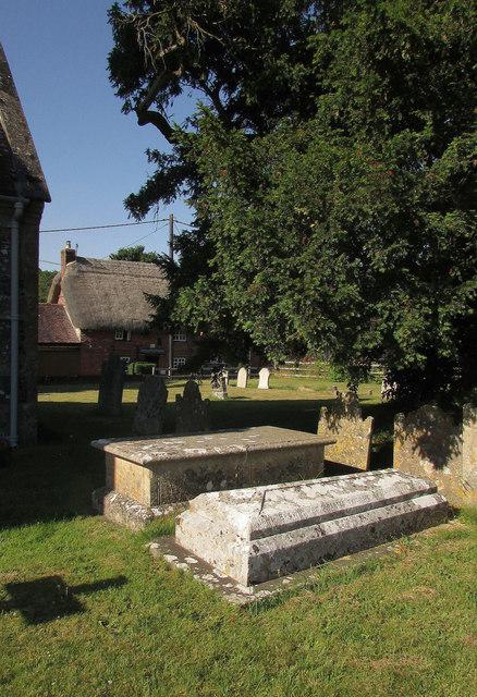 Tombs, Homington churchyard