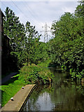 SK5702 : River Soar below St Mary's Lock in Leicester by Roger  Kidd