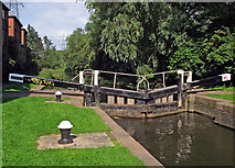 SK5702 : St Mary's Mill Lock in Leicester by Roger  Kidd