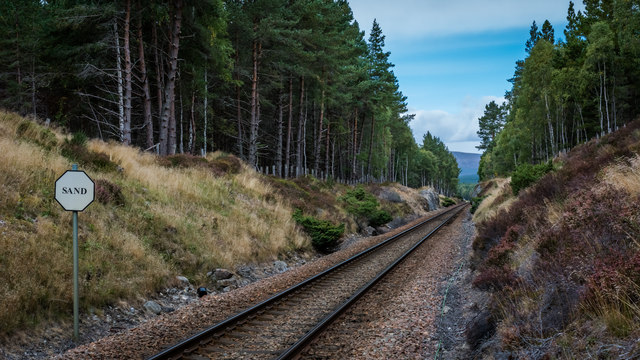 Highland Line south of Carrbridge