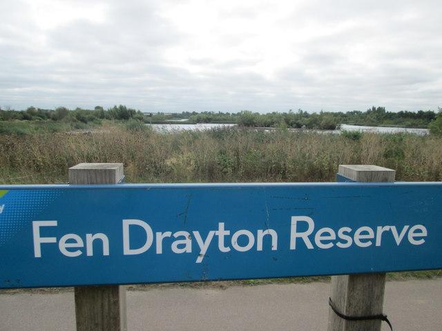 Sign for Fen Drayton Reserve
