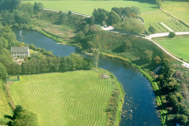 River Don at Cothal from the air