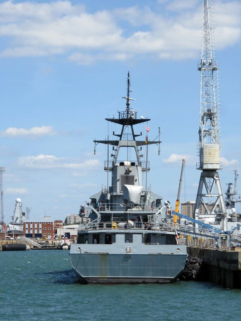 HMS Tyne berthed on North Corner Jetty