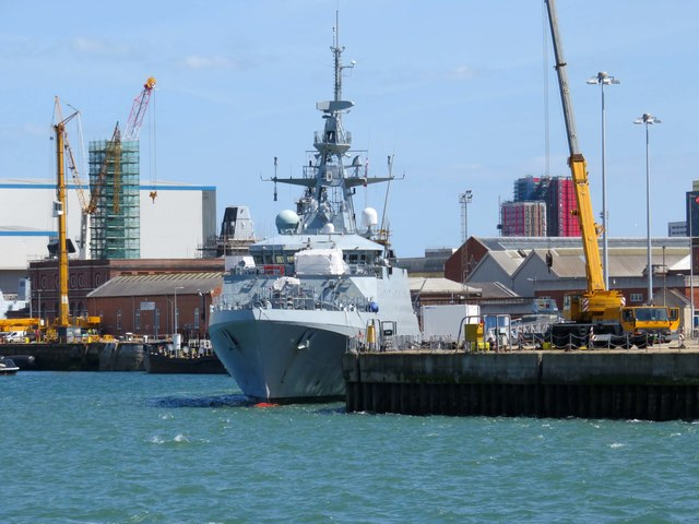 HMS Forth berthed on the South West Wall