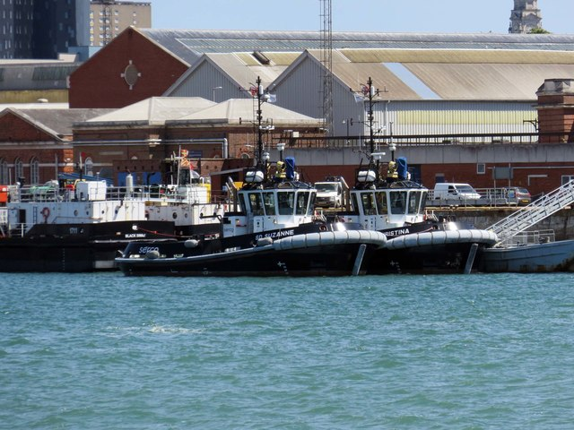 Tug boats berthed on the South Wall