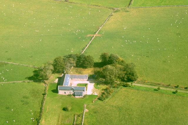 Hill of Middleton, near Newmachar, from the air