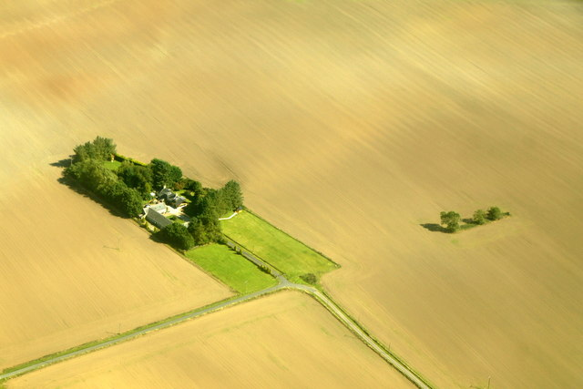 Brunthill, Whiterashes, from the air