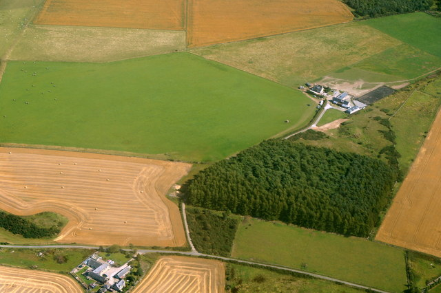 Paddock ha', near Oldmeldrum, from the air