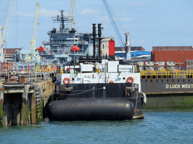 TCL1905 berthed by D Lock West