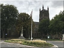SO8554 : Worcester Cathedral Roundabout by Graeme Smith